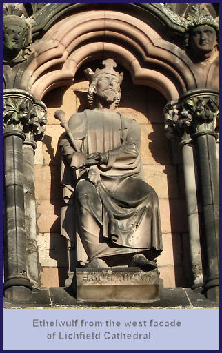 Aethelwulf Birth King Of Wessex 839-861, Kent 839-858
