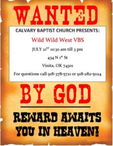 Wild Wild West Wanted by God